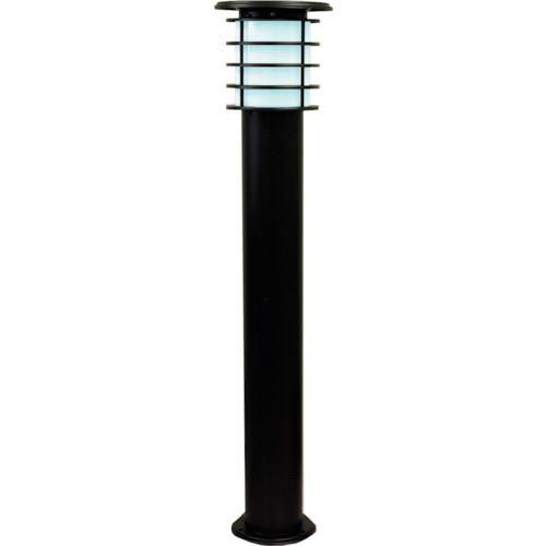 ■JAPPY ソーラーポールライト 1Mモデル 黒色 白色LED  〔品番:SPL-10-WHB〕[TR-1292062]