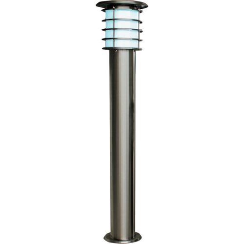 ■JAPPY ソーラーポールライト 1Mモデル シルバー 白色LED〔品番:SPL-10-WH〕[TR-1293731]