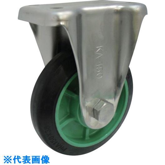 ■ヨドノ 樹脂製ゴム車輪ステンレス製固定車付 150〔品番:PNKA150〕[TR-1313893]【大型・重量物・個人宅配送不可】
