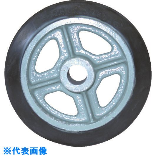 ■ヨドノ 鋳物中荷重用ゴム車輪ベアリング無 300Φ  〔品番:SA300〕[TR-1313901]
