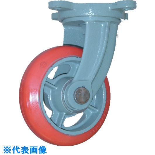 ■ヨドノ 鋳物中荷重用ジェンゴム車輪自在車付ベアリング入 130Φ  〔品番:GSB-G130〕[TR-1315587]
