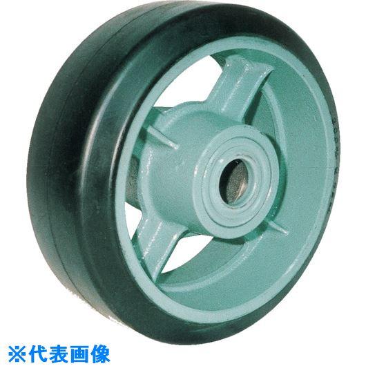 ■ヨドノ 鋳物重荷重用ゴム車輪ベアリング入 HB410X100〔品番:HB410X100〕[TR-1315610]