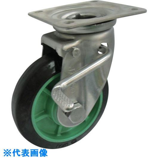 ■ヨドノ 樹脂製ゴム車輪ステンレス製自在車ストッパー付 130  〔品番:PNJAB130〕[TR-1315639]
