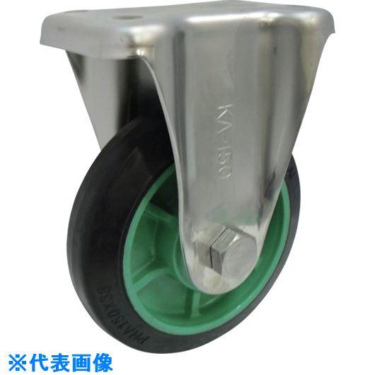 ■ヨドノ 樹脂製ゴム車輪ステンレス製固定車付 200  〔品番:PNAKA200〕[TR-1320311]