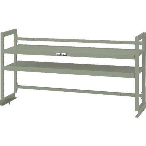 ■ヤマテック ワークテーブル架台 棚板2段タイプ〔品番:WK2-1500-G〕[TR-1321375 ]【送料別途お見積り】