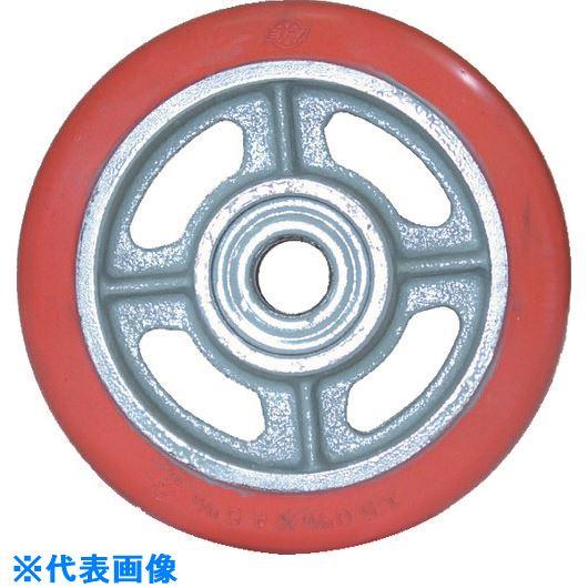 ■ヨドノ 鋳物中荷重用ジェンゴム車輪ベアリング入 410Φ〔品番:GSB410〕[TR-1321874]
