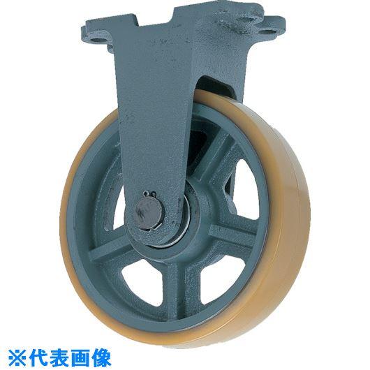 ■ヨドノ 鋳物重荷重用ウレタン車輪固定車付き UHBーk300X65〔品番:UHB-K300X65〕[TR-1321966]