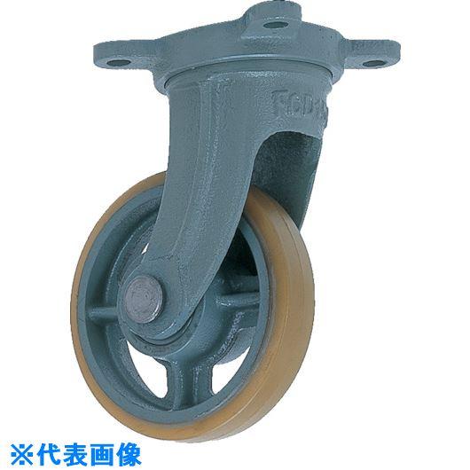 ■ヨドノ 鋳物中荷重用ウレタン車輪自在車付ベアリング入 180Φ  〔品番:USB-G180〕[TR-1323498]