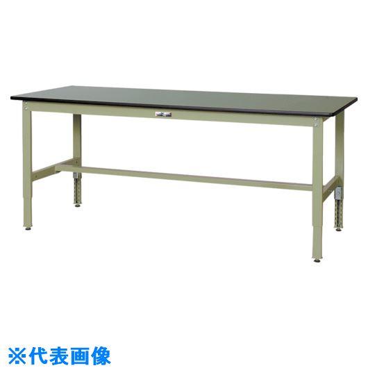 ■ヤマテック ワークテーブル300シリーズ 高さ調整タイプ〔品番:SWRA-1260-GG〕[TR-1332314]【個人宅配送不可】