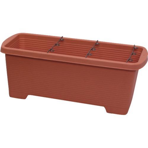 ■IRIS 127030 支柱の倒れにくい簡単菜園プランター オレンジ 6個入 〔品番:700-OR〕[TR-1334037×6]