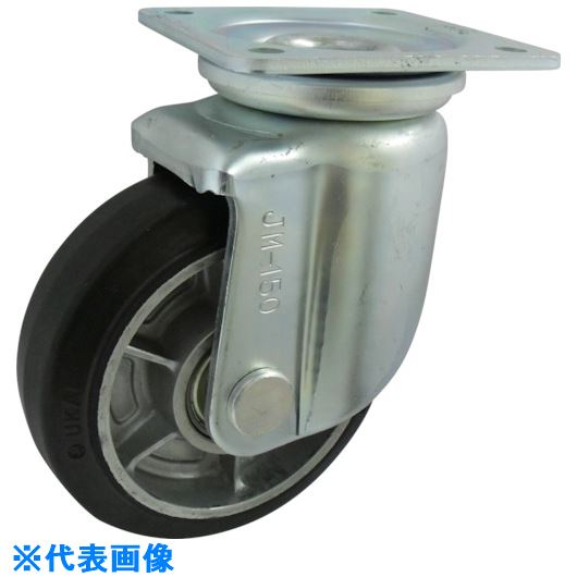 ■ヨドノ 重荷重用ポリブタジェンゴム車輪自在車付  〔品番:RGJM200〕[TR-1336102]