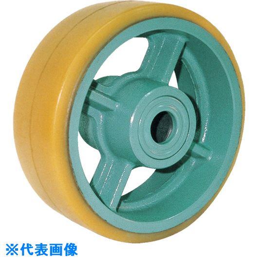 ■ヨドノ 鋳物重荷重用ウレタン車輪ベアリング入 UHB250X125  〔品番:UHB250X125〕[TR-1337612]