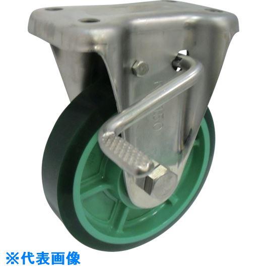 ■ヨドノ 樹脂製ウレタンゴム車輪ステンレス製固定車ストッパー付 200  〔品番:PNUKABZ200〕[TR-1337656]