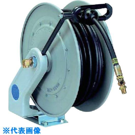 ■ハタヤ 自動巻高圧水用ホースリール15M 内径Φ9.5 ラバーホース  〔品番:NWLC-HP153〕[TR-1341747]
