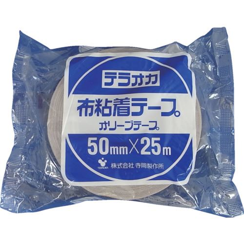 ■TERAOKA カラーオリーブテープ NO.145 茶 100MMX25M 18巻入 〔品番:145〕[TR-1345484×18]