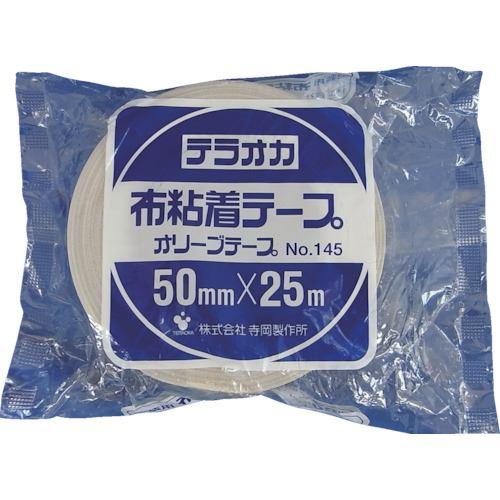 ■TERAOKA カラーオリーブテープ NO.145 シルバー 100mmX25M《18巻入》〔品番:145〕[TR-1345488×18]