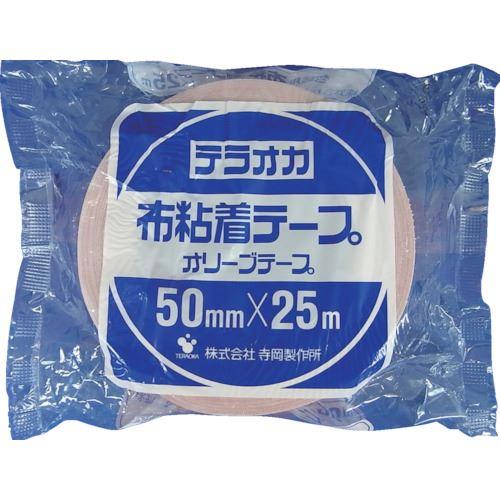 ■TERAOKA カラーオリーブテープ NO.145 ピンク 75MMX25M 24巻入 〔品番:145〕[TR-1346962×24]
