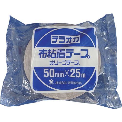■TERAOKA カラーオリーブテープ NO.145 茶 75MMX25M 24巻入 〔品番:145〕[TR-1346969×24]