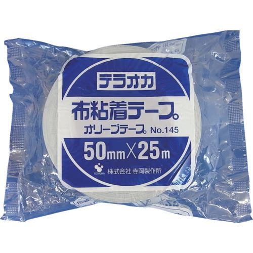 ■TERAOKA カラーオリーブテープ NO.145 空 75mmX25M《24巻入》〔品番:145〕[TR-1346998×24]