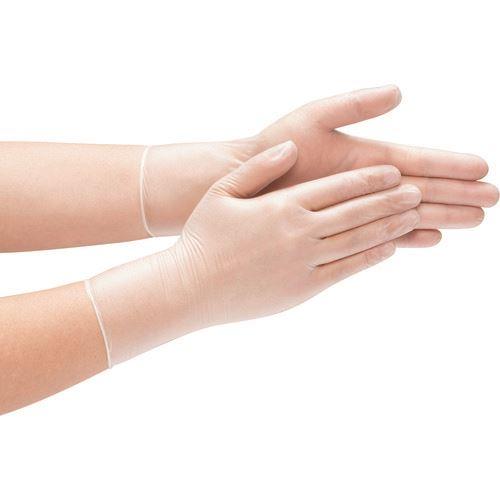 ?テイジン 塩化ビニール手袋 半透明 粉なし Lサイズ《20箱入》〔品番:PVC-PF45〕直送[TR-1347406×20]【送料別途お見積り】