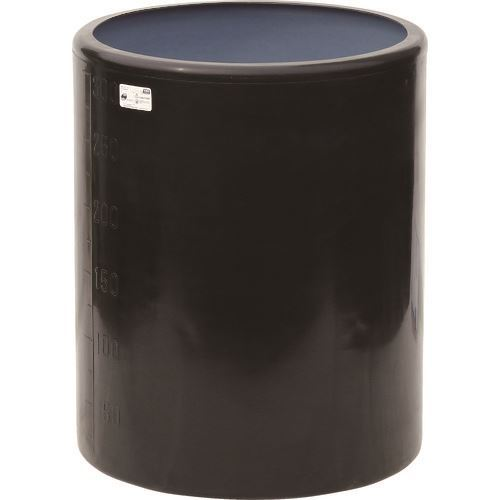 ■スイコー MH型 開放円筒型容器300L 黒  〔品番:MH-300-BK〕[TR-1347485]