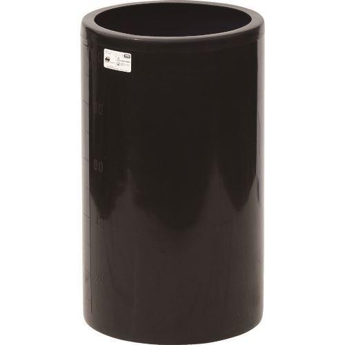 ■スイコー MH型 開放円筒型容器100L 黒  〔品番:MH-100-BK〕[TR-1347487]