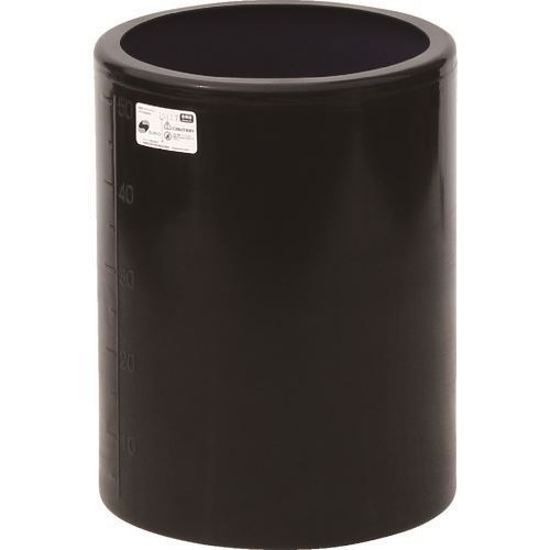 ■スイコー MH型 開放円筒型容器50L 黒  〔品番:MH-50-BK〕[TR-1347488]