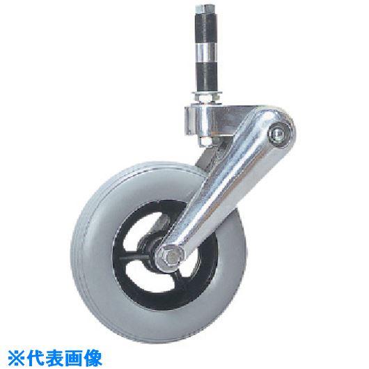 ■シシク 緩衝キャスター 自在差し込み 150径 ポリウレタン車輪〔品番:SAJ-DSPR-150PU〕[TR-1350265], R-Style:5afb4877 --- chargers.jp