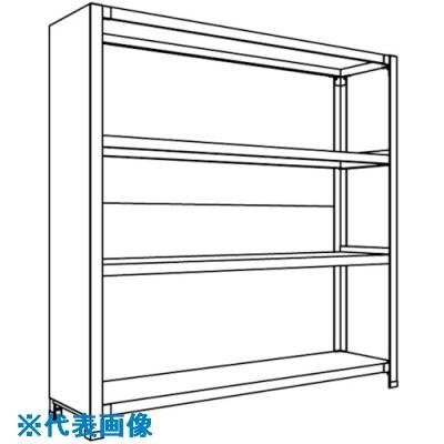 ■NF 背板・側板付軽量物品棚〔品番:LA44K-24〕[TR-1353912 ]【送料別途お見積り】