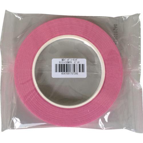 ■オカモト 紙バックシーリングテープ 紙封栓 9×50 ピンク《120巻入》〔品番:700-P〕[TR-1356444×120]