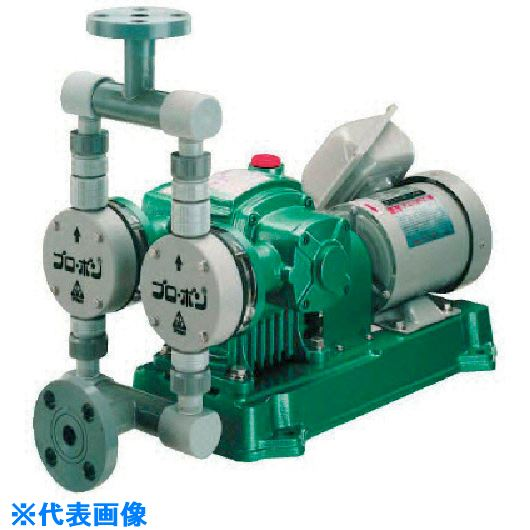 ■KUK 無脈動定量注入ポンプ PVC製 200(V) 400(W) 屋外型  〔品番:FF3-6000-P〕[TR-1356636]【大型・重量物・送料別途お見積り】