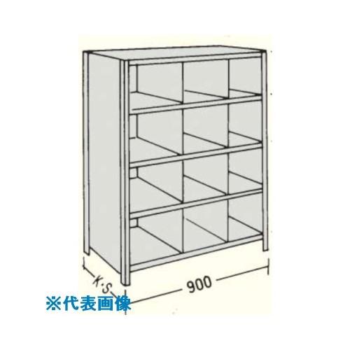 ■NF 縦仕切付軽量物品棚W900D450H1800F8〔品番:LA63S-38〕[TR-1357038]【個人宅配送不可】