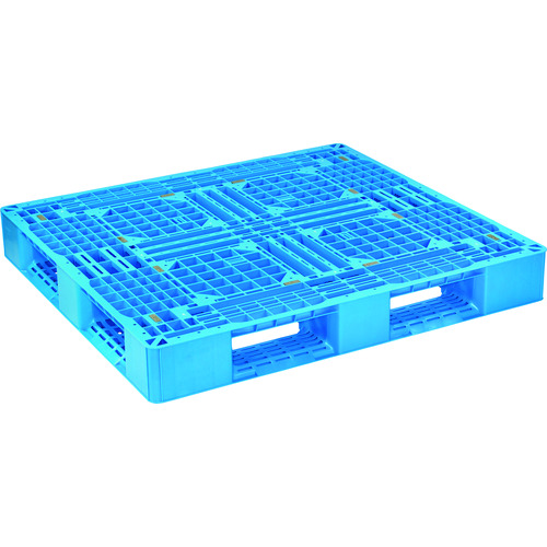 ■NPC プラスチックパレットLA-1211 片面四方差し ブルー  〔品番:LA-1211-BL〕[TR-1357634]【大型・重量物・個人宅配送不可】