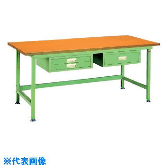 ■OS 中量作業台 木製天板〔品番:NBW1877〕[TR-1357840]【大型・重量物・個人宅配送不可】