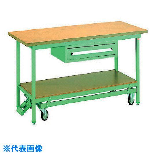 ■OS 移動式作業台 木製天板(厚み31MM)〔品番:BM1271〕[TR-1357886]【大型・重量物・個人宅配送不可】