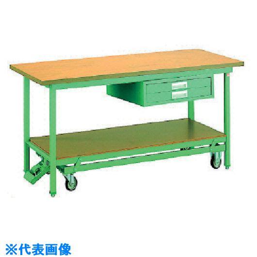 ■OS 移動式作業台 木製天板(厚み31MM)〔品番:BM1575〕[TR-1357904]【大型・重量物・個人宅配送不可】