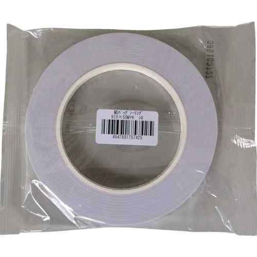 ■オカモト 紙バックシーリングテープ 紙封栓 9×50 白《120巻入》〔品番:700-W〕[TR-1357972×120]