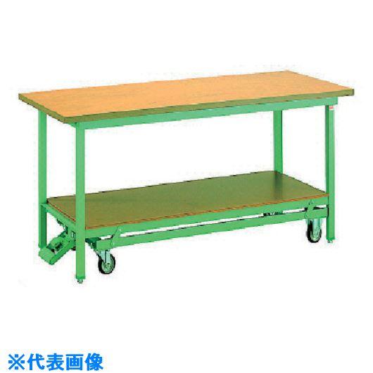 ■OS 移動式作業台 木製天板(厚み31MM)〔品番:BM1570〕[TR-1359420]【大型・重量物・個人宅配送不可】