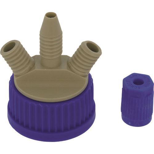 ■SIBATA 撹拌容器キャップセット(シャフトなし) GL-45〔品番:016000-451〕[TR-1360006]