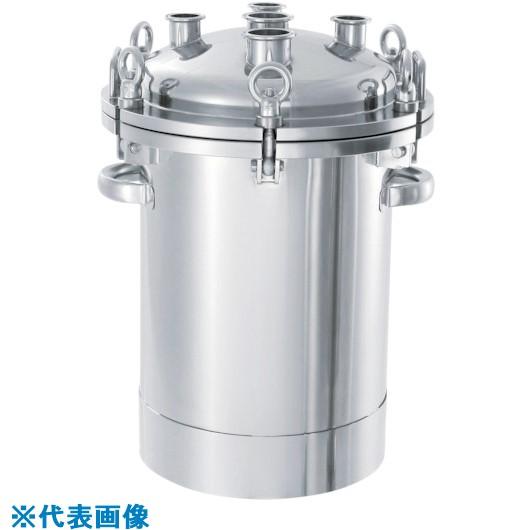 ■日東 ステンレスフランジオープン加圧容器10L〔品番:PCN-O-10〕[TR-1360505]【個人宅配送不可】