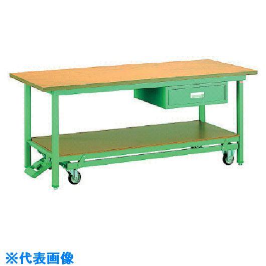 ■OS 移動式作業台 木製天板(厚み31MM)〔品番:BM1873〕[TR-1361062]【大型・重量物・個人宅配送不可】