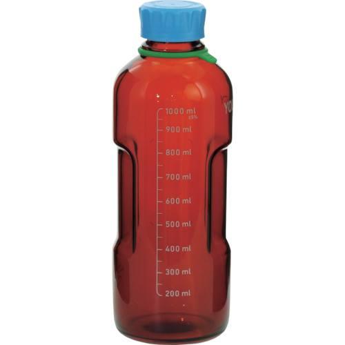 ■SIBATA ユーティリティーねじ口びん 茶褐色 水キャップ付 1L (4個入)〔品番:017320-1000A〕[TR-1361541]