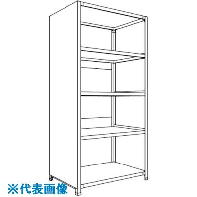 ■NF 背板・側板付軽量物品棚〔品番:LA63L-25〕[TR-1361832 ]【送料別途お見積り】