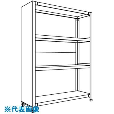 ■NF 背板・側板付軽量物品棚〔品番:LA74S-27〕[TR-1361872 ]【個人宅配送不可】