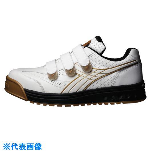 ■ディアドラ DIADORA 安全作業靴 ロビン 白 24.5cm〔品番:RB11-245〕[TR-1362084]