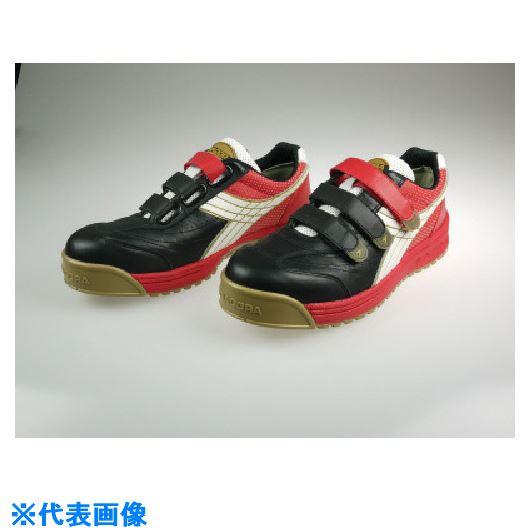 ■ディアドラ DIADORA 安全作業靴 ロビン 黒/白/赤 23.0CM  〔品番:RB213-230〕[TR-1362091]
