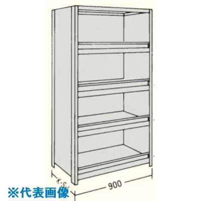 ■NF 前当り付軽量物品棚W900D300H1800F7〔品番:LA63K-47〕[TR-1363425]【個人宅配送不可】