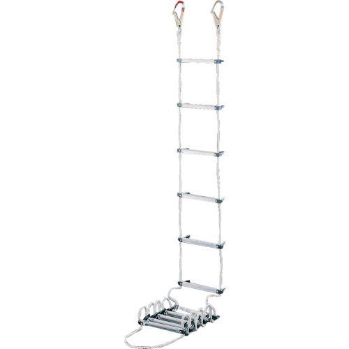 ■ハセガワ 蛍光避難はしご 2階用 3.9M(テラス用フック付き)  〔品番:BP-4〕外直送[TR-1363943]【大型・重量物・送料別途お見積り】