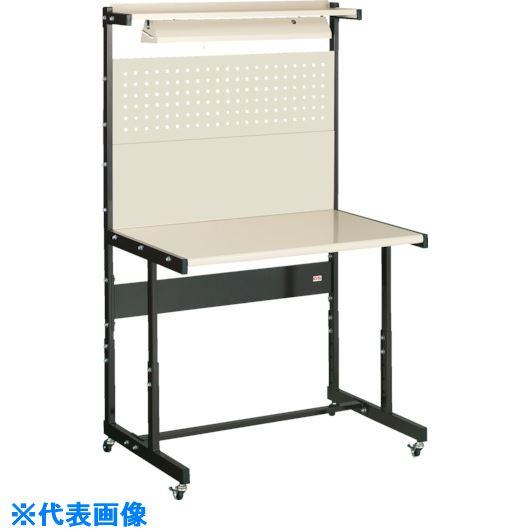 ■OS ラインテーブル移動式高さ調整式N型〔品番:LTH120NC〕[TR-1364147]【個人宅配送不可】