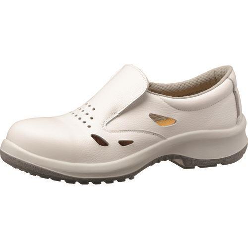 ■ミドリ安全 通気構造スリッポンタイプ静電安全靴 プレミアムコンフォートシリーズ PRM200ホワイト通気静電 24.5CM〔品番:PRM200S-TUUKI-W-24.5〕[TR-1364339]